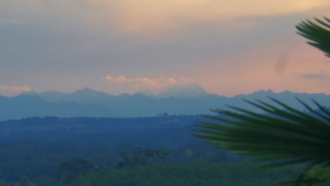 The Pyrenees at sunset