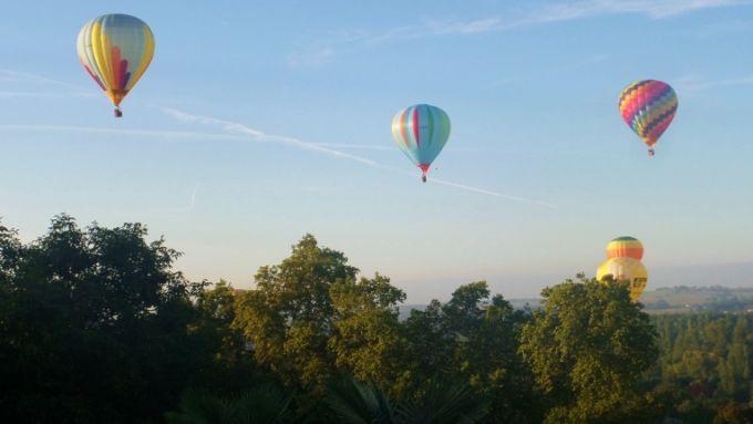 Spectacle au dessus du jardin !